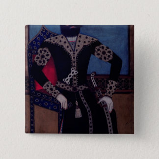 Portrait of Fath-Ali, Shah of Iran , 15 Cm Square Badge