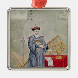 Portrait of Father Ferdinand Verbiest Christmas Ornament