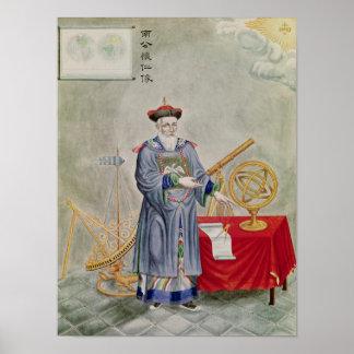Portrait of Father Ferdinand Verbiest Poster
