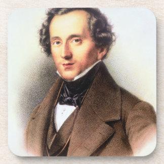 Portrait of Felix Mendelssohn (1809-47) (litho) Beverage Coasters