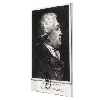 Portrait of Felix Vicq d'Azyr Canvas Print
