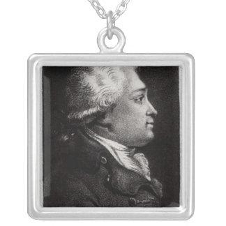 Portrait of Felix Vicq d'Azyr Silver Plated Necklace