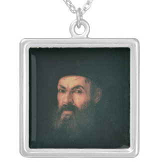 Portrait of Ferdinand Magellan Silver Plated Necklace