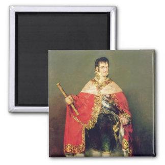 Portrait of Ferdinand VII  1814 Square Magnet