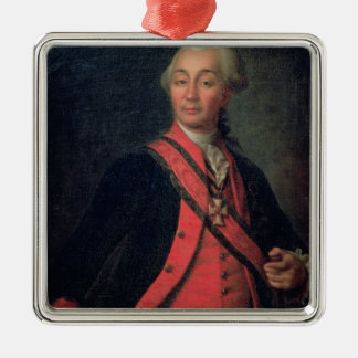 Portrait of Field Marshal Generalissimo Silver-Colored Square Decoration