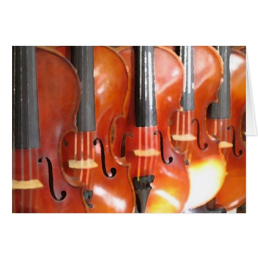 Portrait of Five Violins or Violas Card