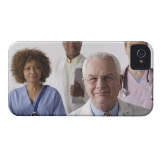 Portrait of four medical professionals, studio iPhone 4 covers
