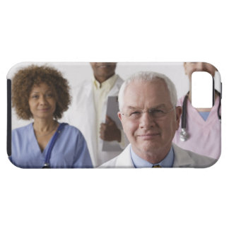 Portrait of four medical professionals, studio iPhone 5 covers