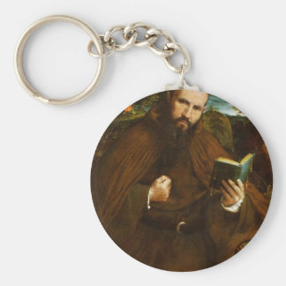 Portrait Of Fra Gregorio Belo Di Vicenza By Lotto Keychains