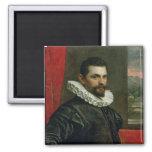 Portrait of Francesco Bassano Square Magnet