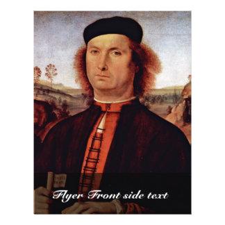 Portrait Of Francesco Delle Opere By Perugino Piet 21.5 Cm X 28 Cm Flyer