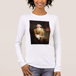 Portrait of Francesco Guardi (1712-93) (oil on can Long Sleeve T-Shirt