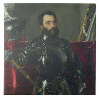 Portrait of Francesco Maria Della Rovere, Duke of Large Square Tile