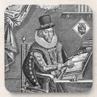 Portrait of Francis Bacon (1561-1626) Viscount of Drink Coaster