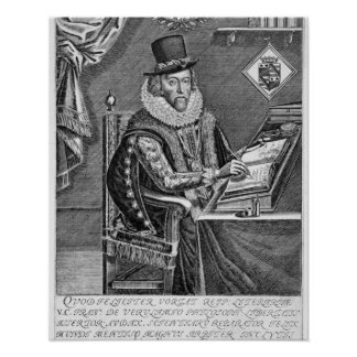 Portrait of Francis Bacon (1561-1626) Viscount of Poster