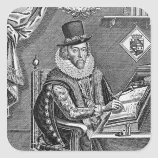 Portrait of Francis Bacon (1561-1626) Viscount of Square Sticker