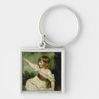 Portrait of Francis George Hare, oldest son of Fra Silver-Colored Square Key Ring