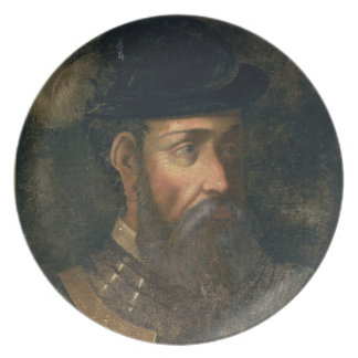 Portrait of Francisco Pizarro (c.1478-1541) Spanis Plate