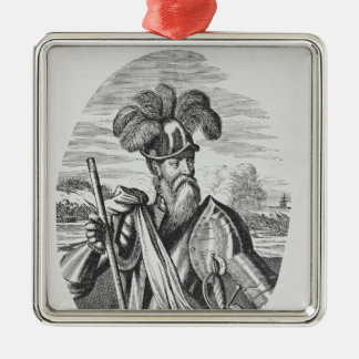 Portrait of Francisco Pizarro Christmas Ornament