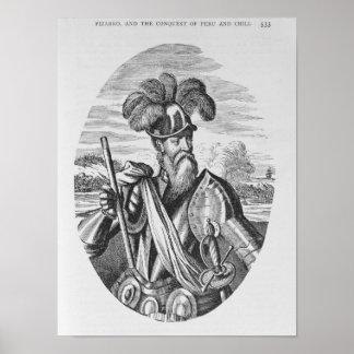 Portrait of Francisco Pizarro Poster