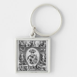 Portrait of Francisco Pizarro  with allegorical Key Ring