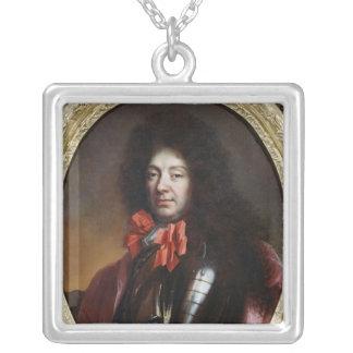 Portrait of Francois Adhemar de Castellane Silver Plated Necklace