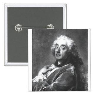 Portrait of Francois Boucher  1741 15 Cm Square Badge