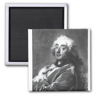 Portrait of Francois Boucher  1741 Square Magnet