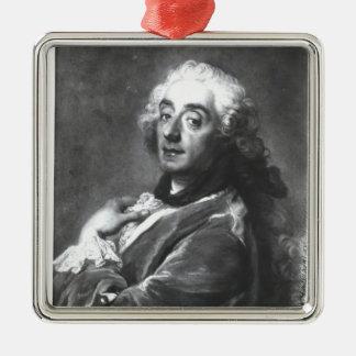 Portrait of Francois Boucher  1741 Silver-Colored Square Decoration