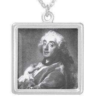 Portrait of Francois Boucher  1741 Silver Plated Necklace