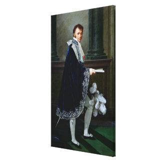Portrait of Francois-Nicolas Mollien  1806 Canvas Print