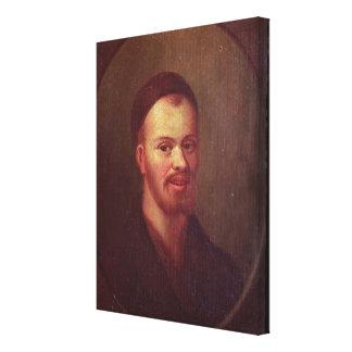 Portrait of Francois Rabelais , French satirist Canvas Print
