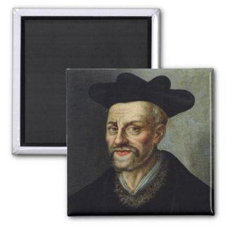 Portrait of Francois Rabelais Square Magnet