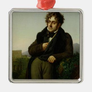 Portrait of Francois Rene  Vicomte Christmas Ornament