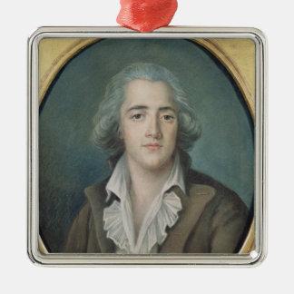 Portrait of Francois Rene Vicomte de 2 Silver-Colored Square Decoration