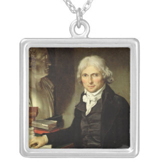 Portrait of Francois Xavier Bichat Silver Plated Necklace