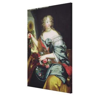 Portrait of Francoise-Athenaise Rochechouart Stretched Canvas Print