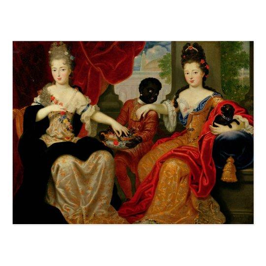 Portrait of Francoise-Marie de Bourbon Postcard