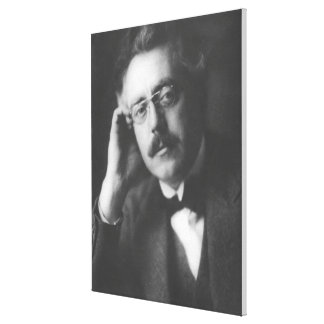 Portrait of Frank Bridge (1879-1941) (b/w photo) Canvas Print