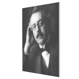 Portrait of Frank Bridge (1879-1941) (b/w photo) Canvas Prints