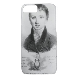 Portrait of Franz Liszt (1811-86) aged 11 (engravi iPhone 8/7 Case