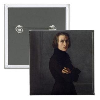 Portrait of Franz Liszt  1839 15 Cm Square Badge