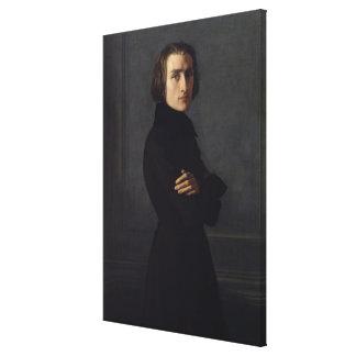 Portrait of Franz Liszt  1839 Canvas Prints