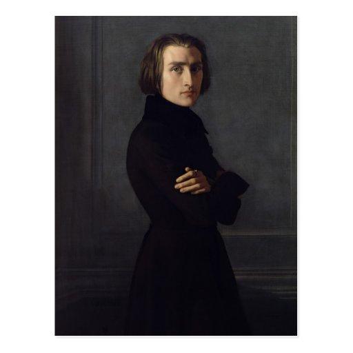 Portrait of Franz Liszt  1839 Postcards