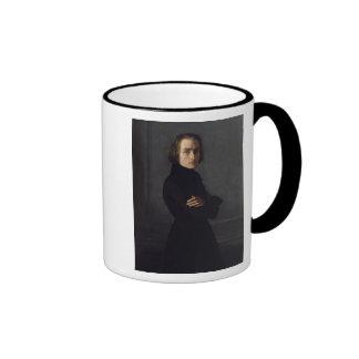 Portrait of Franz Liszt  1839 Ringer Mug