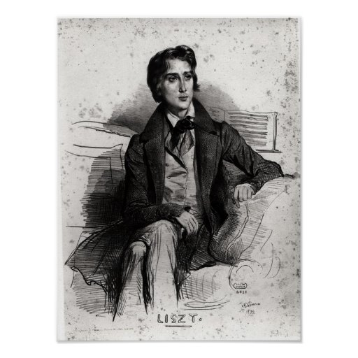 Portrait of Franz Liszt  August 1832 Print