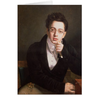 Portrait of Franz Schubert , Austrian composer Card