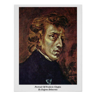 Portrait Of Frederic Chopin By Eugene Delacroix Posters