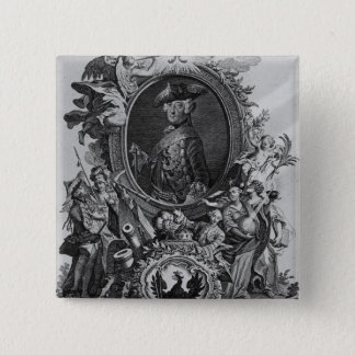 Portrait of Frederick II , engraved by Johann 15 Cm Square Badge