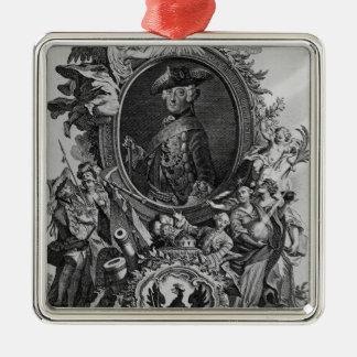 Portrait of Frederick II , engraved by Johann Christmas Ornament